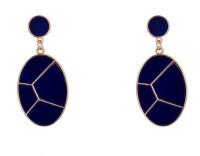 R18Jewels-Fashion&U Royal Blue_GOLD Metal Drop Earring
