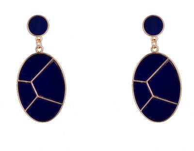 R18Jewels-Fashion&U Royal Blue_GOLD Metal Drop Earring