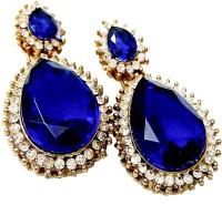 Glittering World Designer Blue Stone Alloy Drop Earring