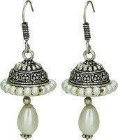 Alwar Creation Silver Touch White Beats Alloy Alloy Jhumki Earring