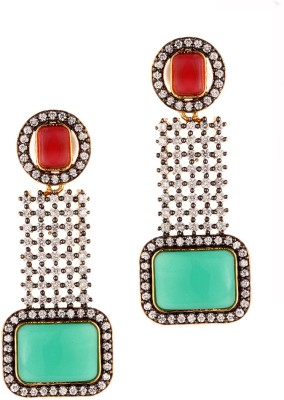 Alloy Trinketbag Alloy Chandelier Earring (Multicolor)
