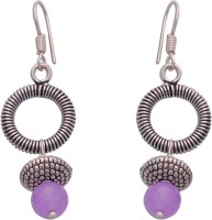 The Fine World Light Pink For The Contemporary Yet Traditional Woman Of Today! Zircon Brass Dangle Earring