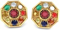 BlueStone The Nav Kavachs Yellow Gold Stud Earring