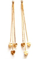 Sansar India Heart Chain Alloy Tassel Earring