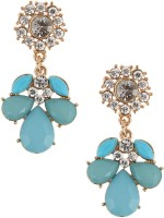 Jewelizer Style Diva Yellow Gold Crystal Alloy Drop Earring