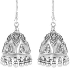 Velvetcase Fine Silver Jhumki Earring Silver Stud Earring