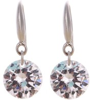ISweven Newest Silver Gold Plated Cubic Zircon Dangle For Girls 14*8MM Fashion Jewelry Top Quality Alloy Dangle Earring