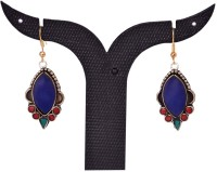 Tradition India TI447 Handmade Designer Stone Studded Traditional Lac Worked Brass Drop Earring