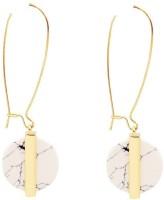 Oomph Gold & White Crystal Fashion Jewellery Hoop Bali For Women, Girls & Ladies Metal Dangle Earring