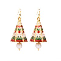 Makezak Jaipuri Meenakari Brass Drop Earring