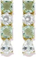 Zaveri Pearls Delightful CZ Stones Cubic Zirconia Brass Stud Earring