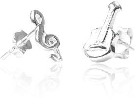 LeCalla JE102353SL Sterling Silver Stud Earring