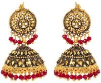 GoldNera Antique Round Alloy Jhumki Earring