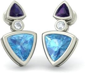 BlueStone The Urban Charms White Gold Stud Earring
