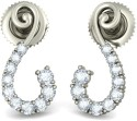 BlueStone The Romantic Whisperss White Gold Stud Earring