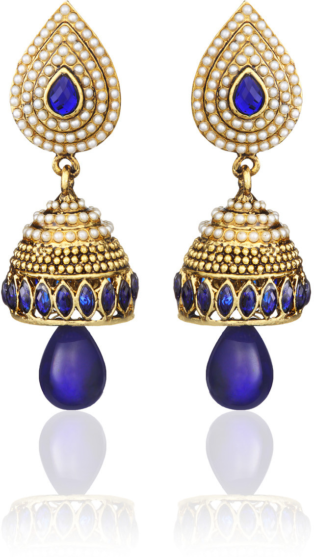 Best Suggestions For Paisley Pearl Studs Rhodium Alloy