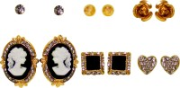 Jewelz Jewelz Stone With Alloy Combo Earring Set Metal Stud Earring