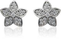 Dhruvi Creation By Zaveri Pearls Floral Pattern Brass Stud Earring