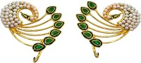 Surat Diamond Peacock Lovers Pearl Metal Cuff Earring