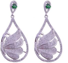 Jewels Mountain Elegant Zircon Sterling Silver Drop Earring