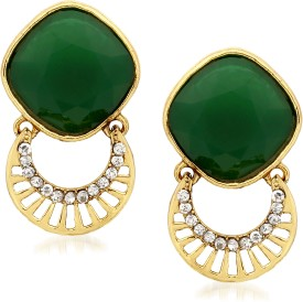 VK Jewels Eye Cathy Green Zinc Drop Earring