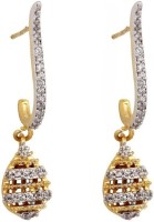 Crunchy Fashion Cubic Zirconia Brass, Copper Drop Earring