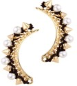 Trinketbag Spikey Pearls Alloy Cuff Earring