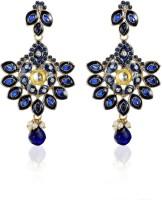 Zaveri Pearls Magnificent Enamelled Zinc Drop Earring