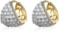 Alysa ES013502 Rhodium, 18K Yellow Gold Cubic Zirconia Alloy Hoop Earring