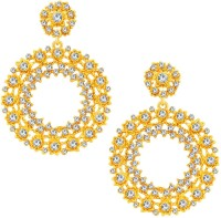 Sukkhi Marquise Gold Plated AD Alloy Chandelier Earring
