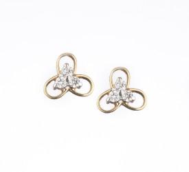 Royale Diamonds Alegra Love Forever 18 K Diamond Yellow Gold Stud Earring