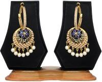 Zaveri Pearls Bollywood Style Pearl Zinc Hoop Earring