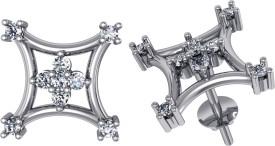 Suvarnadeep Rosey 18 K Swarovski Crystal Gold Stud Earring