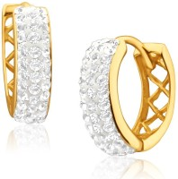 Aiza Spring Sparkle 18K Yellow Gold Plated 18 K Diamond Gold Hoop Earring