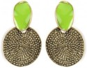 Crunchy Fashion Touch Of Green Alloy Drop Earring