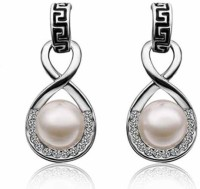 Aaishwarya Style 8 Design White Gold Plated Crystal Alloy Drop Earring