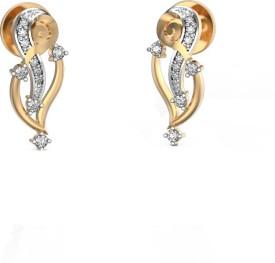 I Love Diamonds Chowrie Charm in Yellow Gold Earrings 18 K Diamond Yellow Gold Drop Earring