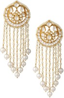 Sri Shringarr Fashion Uinque Collection-31 Yellow Gold Plated Pearl Copper Drop Earring