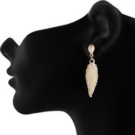 AccessHer Flower Inspired Brass Drop Earring