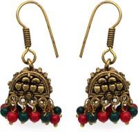 Johareez Yellow Gold Plated  K Brass Dangle Earring