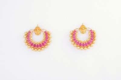 Alankruthi Copper Drop Earring (yellow)