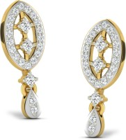 Sparkles Beautiful Pressure Set 18K Yellow Gold Plated 18 K Diamond Gold Drop Earring