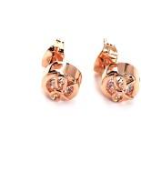 Blinglane Designer Rose Gold Plated Copper Stud Earring