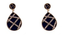 R18Jewels-Fashion&U Sparkling Royal_Blue_GOLD Metal Drop Earring