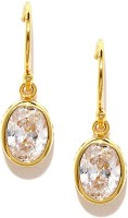 Mast & Harbour 22K Gold-Plated Enamel Plated Crystal Metal Dangle Earring