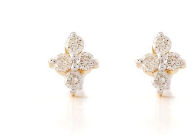Paliwal Jewelers Lily and Spice 18 K Diamond Gold Stud Earring available at Flipkart for Rs.42000
