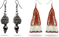 Beadworks Fashionable Beaded Combo Alloy, Glass, Resin, Wood, Bone, Brass, Ceramic, Lac Earring Set - ERGEBTTH6FRGQPSY