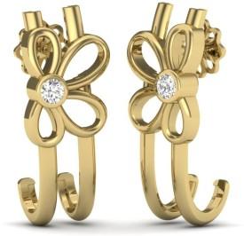 Vizyra Bright Swarovski Crystal Silver Stud Earring