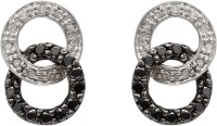 Ziveg Ziveg 92.5 Sterling Silver Earring Made With Swarovski Zirconia- Limited Edition Black Silver Swarovski Crystal Sterling Silver Stud Earring