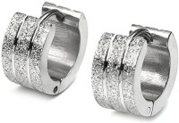 Vaishnavi First Quality Korean Made Broad Size Sand Busted Unisex 316l Surgical Stainless Steel Huggie Earring